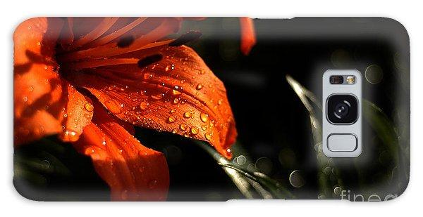 Droplets On Flower Galaxy Case by Vilas Malankar