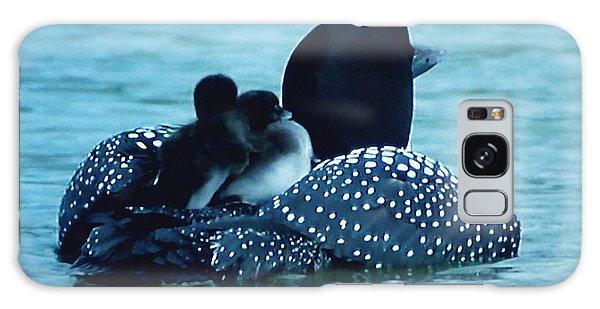 Duck Family Joy In The Lake  Galaxy Case