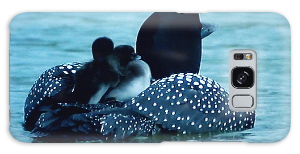 Galaxy Case featuring the photograph Duck Family Joy In The Lake  by Colette V Hera  Guggenheim