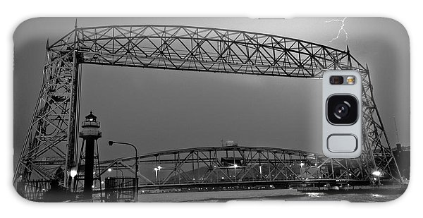 Duluth Lift Bridge Under Lightning Galaxy Case