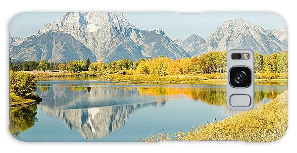 Early Autumn At Oxbow Bend Galaxy Case