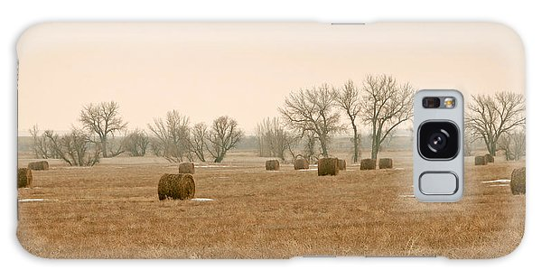 Earlying Morning Hay Bails Galaxy Case