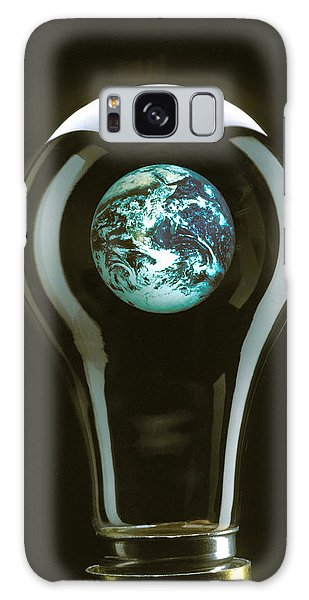 Expanse Galaxy Case - Earth In Light Bulb  by Garry Gay
