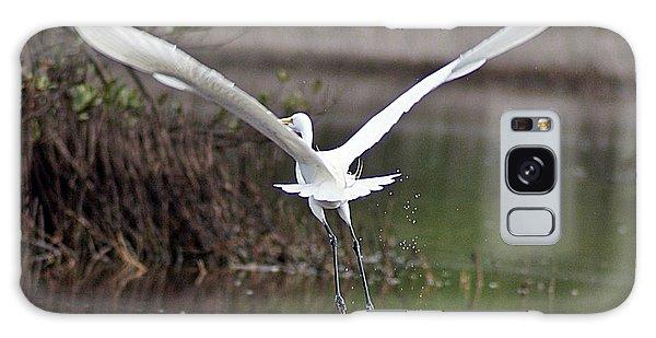 Egret In Flight Galaxy Case by Joe Faherty