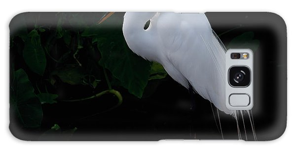 Egret On A Branch Galaxy Case