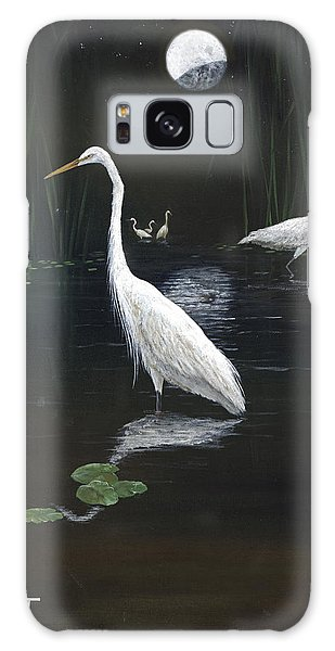 Egrets In The Moonlight Galaxy Case