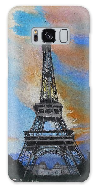 Eiffel Tower At Dusk Galaxy Case