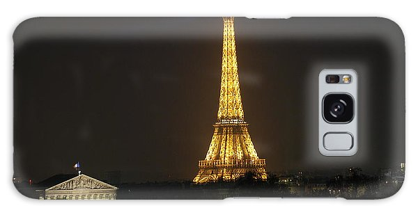 Eiffel Tower At Night Galaxy Case