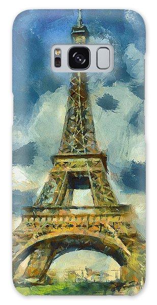 Eiffel Tower In Spring Galaxy Case
