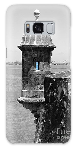 El Morro Sentry Tower Color Splash Black And White San Juan Puerto Rico Galaxy Case