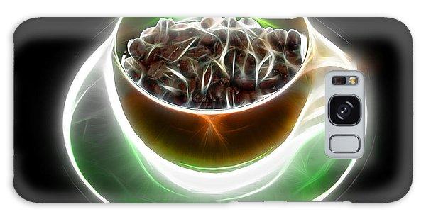 Electrifyin The Coffee Bean -version Orange Galaxy Case
