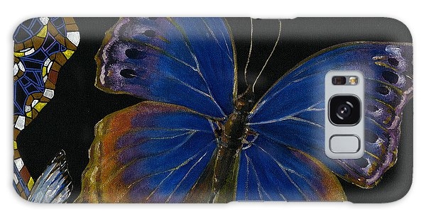 Elena Yakubovich - Butterfly 2x2 Lower Right Corner Galaxy Case by Elena Yakubovich