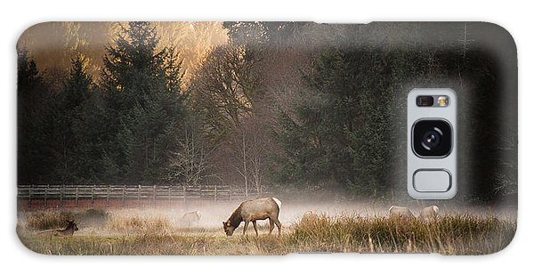 Elk Camp Galaxy Case by Randy Wood