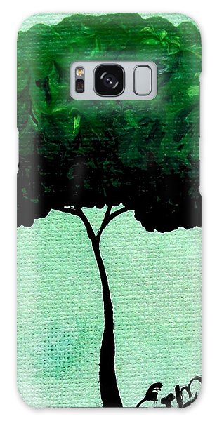 Emily's Trees Green Galaxy Case by Oddball Art Co by Lizzy Love
