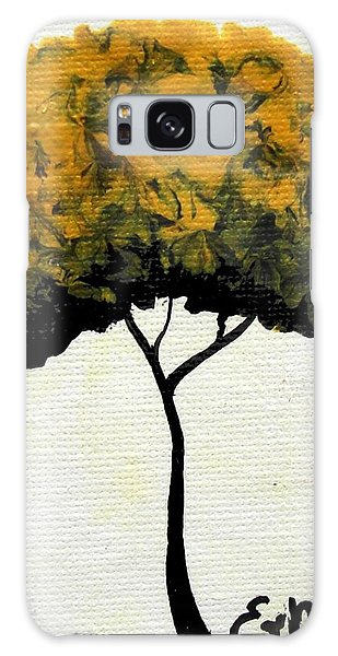 Emily's Trees Yellow Galaxy Case by Oddball Art Co by Lizzy Love
