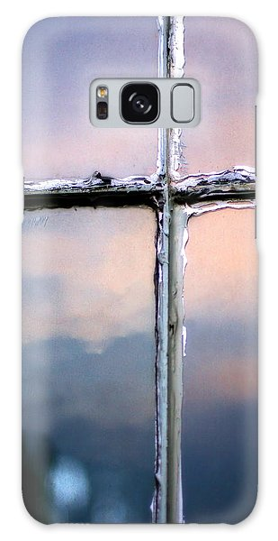 Empty Cross On The Window Of An Old Church Galaxy Case