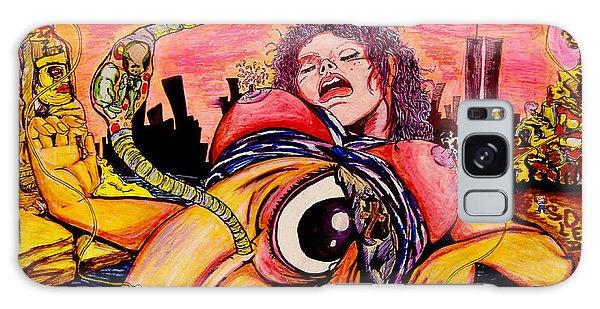 Galaxy Case featuring the painting En El Bano De Soledad by eVol  i