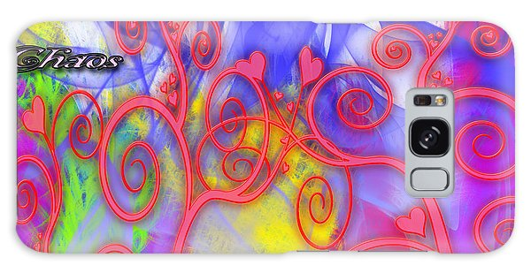 Even In Chaos Find Love Galaxy Case by Clayton Bruster