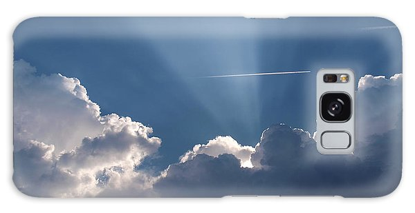 Even Through The Clouds You Will Find A Ray Of Sunshine Galaxy Case