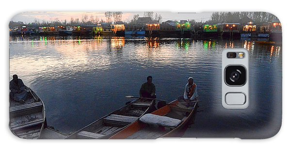 Evening On Dal Lake Galaxy Case by Fotosas Photography