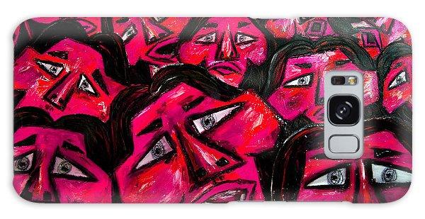 Galaxy Case - Faces - Pink by Karen Elzinga