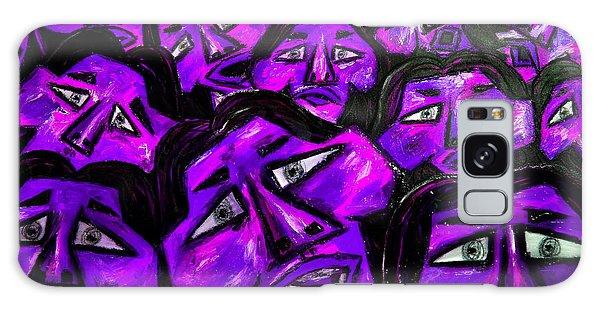Galaxy Case - Faces - Purple by Karen Elzinga