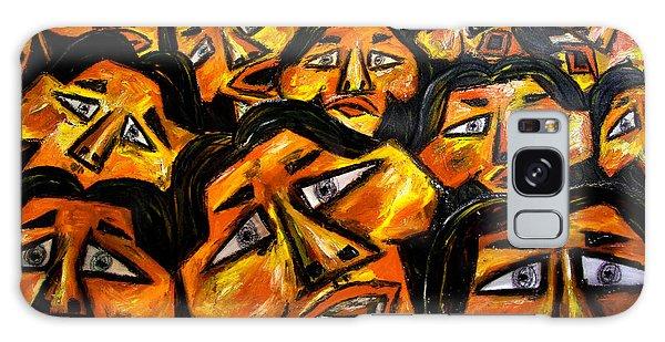 Galaxy Case - Faces Yellow by Karen Elzinga