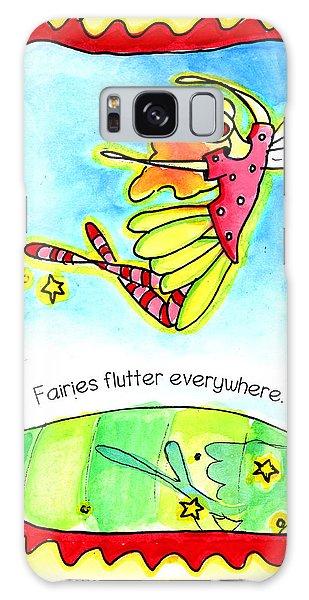 Fairies Flutter Everywhere Galaxy Case