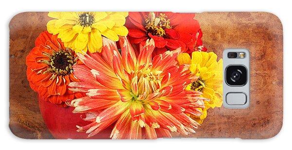 Fall Flower Arrangement Galaxy Case by Verena Matthew