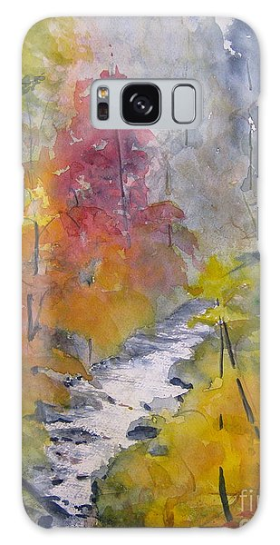 Fall Mountain Stream Galaxy Case