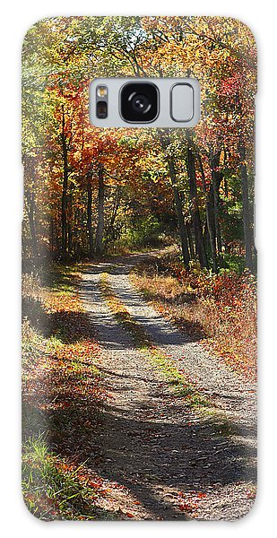Fall On The Wyrick Trail Galaxy Case by Denise Romano