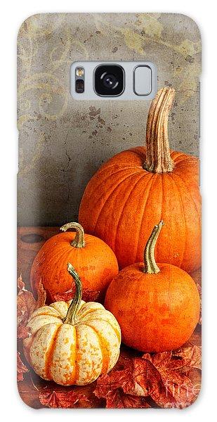 Fall Pumpkin And Decorative Squash Galaxy Case by Verena Matthew