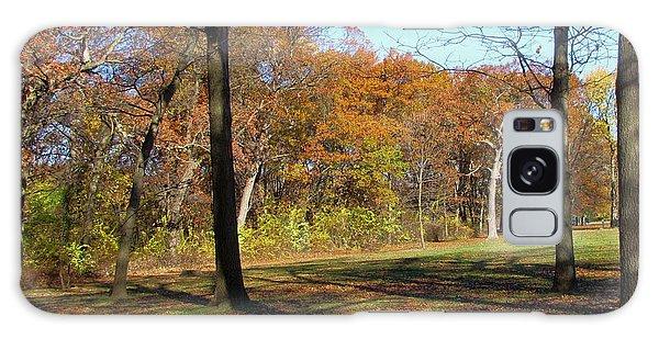 Fall Tree Shadows Galaxy Case by Cedric Hampton