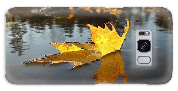 Fallen Maple Leaf Reflection Galaxy Case