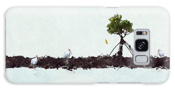 Galaxy Case featuring the photograph Falling Mangrove Leaf by Dan Friend