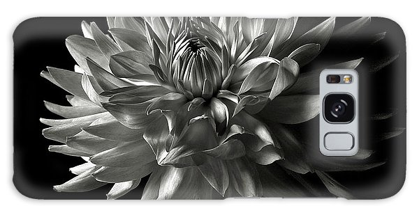 Fancy Dahlia In Black And White Galaxy Case