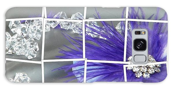 Feather And Jewels Galaxy Case by Michelle Frizzell-Thompson