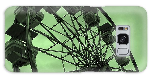Ferris Wheel Green Sky Galaxy Case by Ramona Johnston