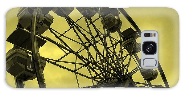 Ferris Wheel Yellow Sky Galaxy Case by Ramona Johnston