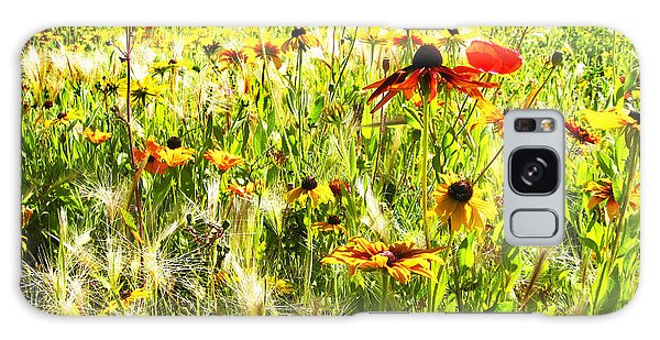 Field Of Bright Colorful Wildflowers Galaxy Case