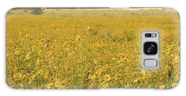 Field Of Yellow Daisy's Galaxy Case