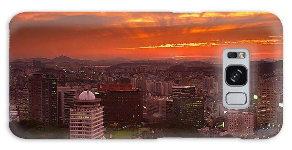 Fiery Seoul Sunset Galaxy Case by Gabor Pozsgai