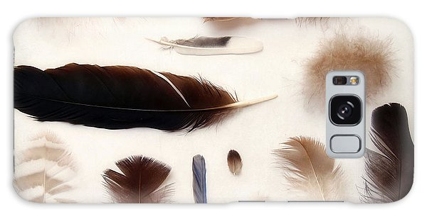 Finding Feathers Galaxy Case by Angie Rea