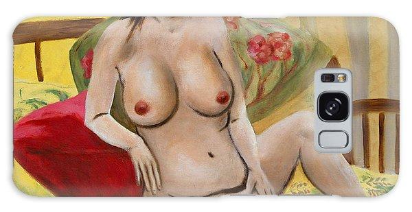 Fine Art Female Nude Seated 2010 Galaxy Case