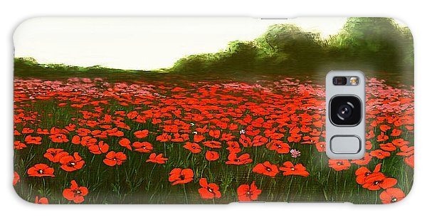 Fine Art Oil Painting Poppies Emerald Isle Galaxy Case