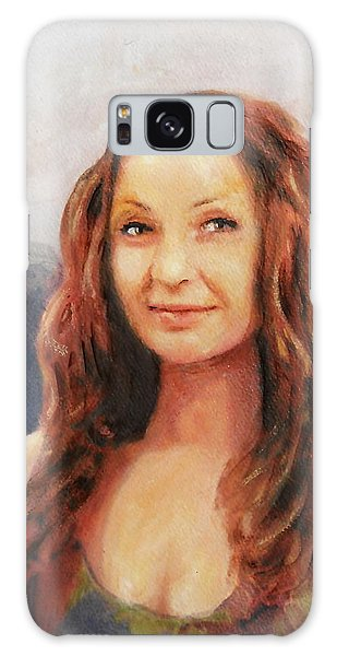 Fine Art Original Painting Jen Mona Lisa 2012 Galaxy Case