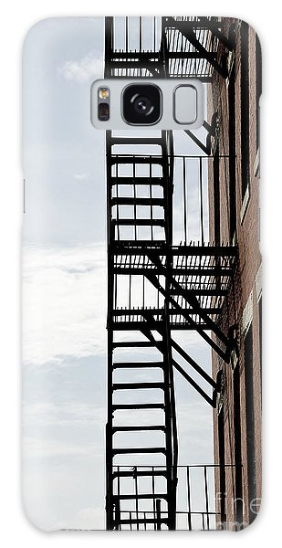 Brick House Galaxy Case - Fire Escape In Boston by Elena Elisseeva