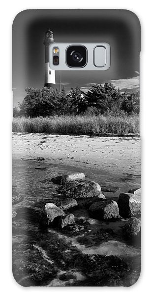 Fire Island In Black And White Galaxy Case