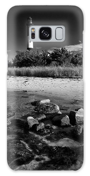 Fire Island In Black And White Galaxy Case by Rick Berk