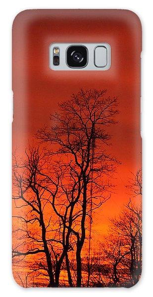 Fire Sky Galaxy Case by Bonnie Myszka